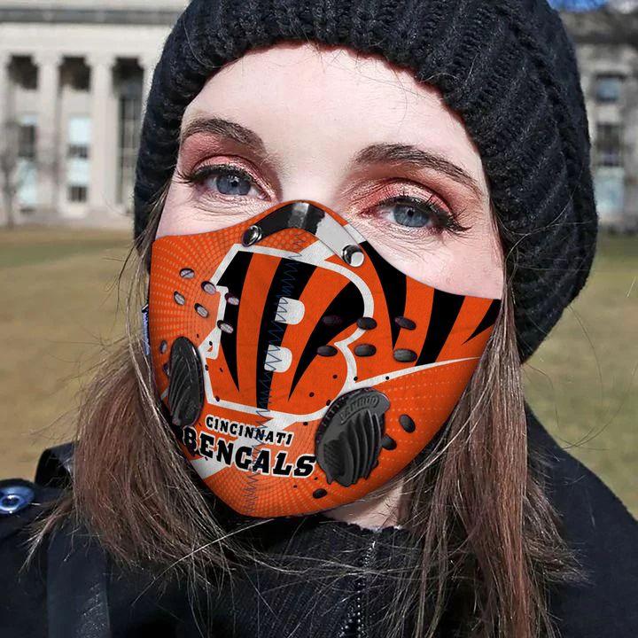 Cincinnati bengals carbon pm 2,5 face mask 3