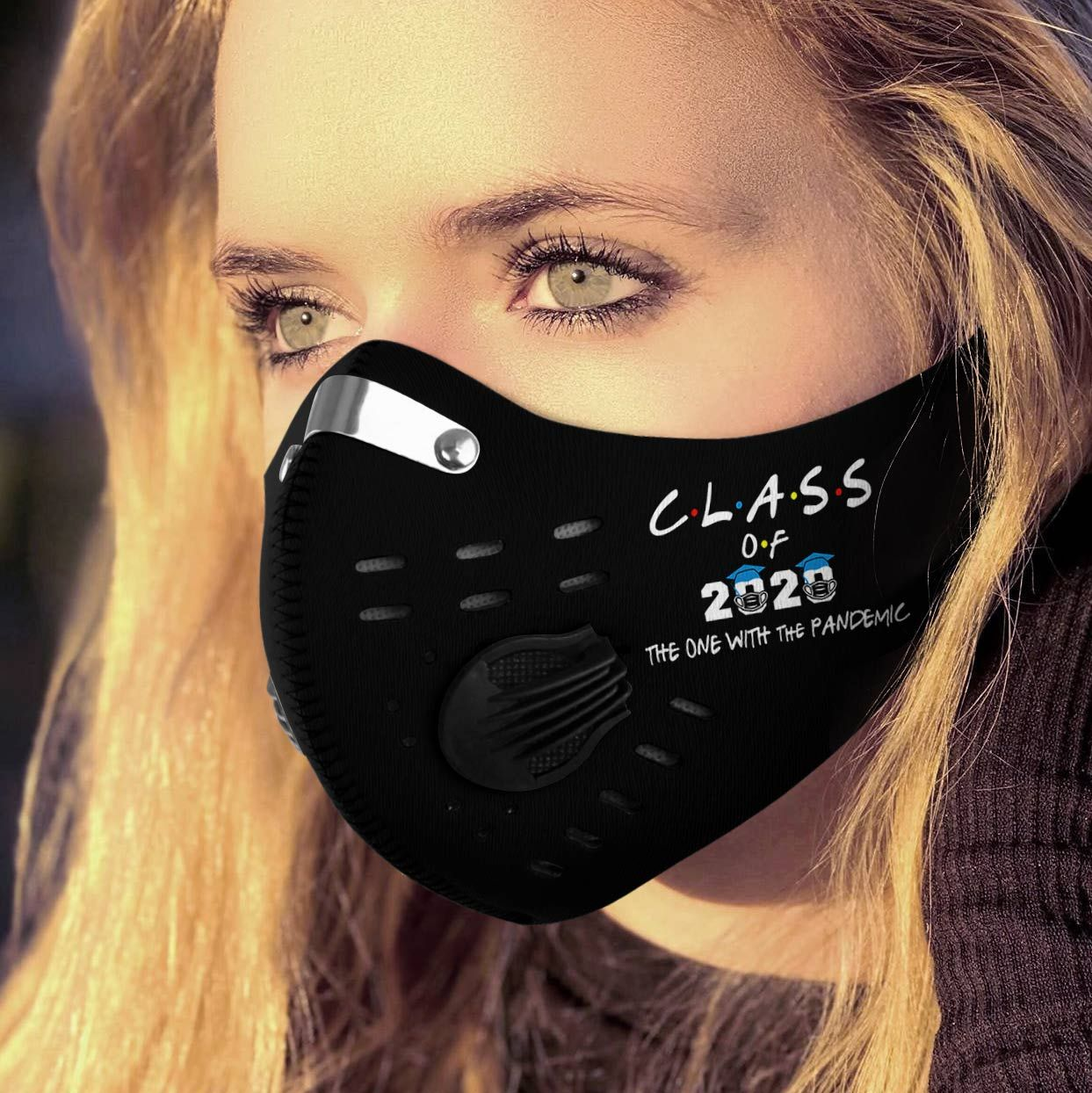 Class of 2020 the one with the pandemic carbon pm 2,5 face mask 3