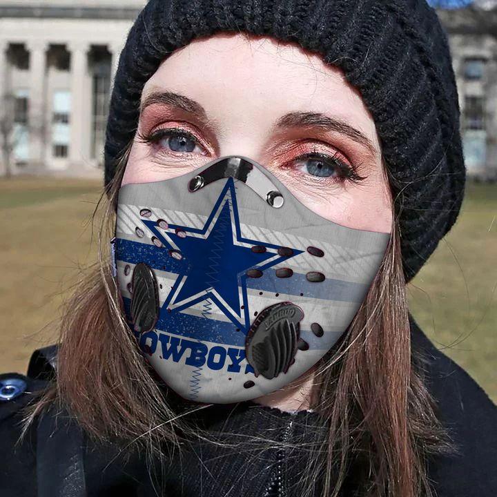 Dallas cowboys carbon pm 2,5 face mask 1
