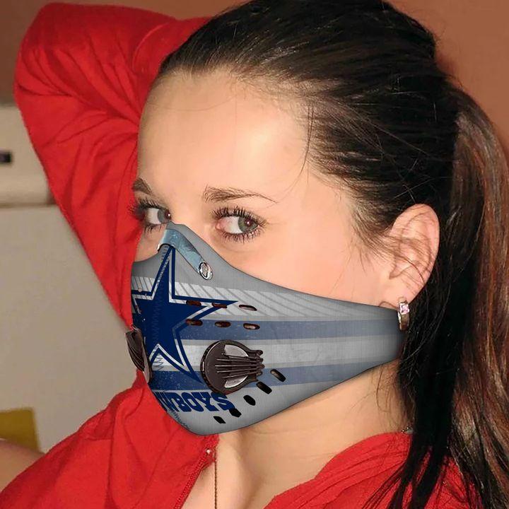 Dallas cowboys carbon pm 2,5 face mask 2
