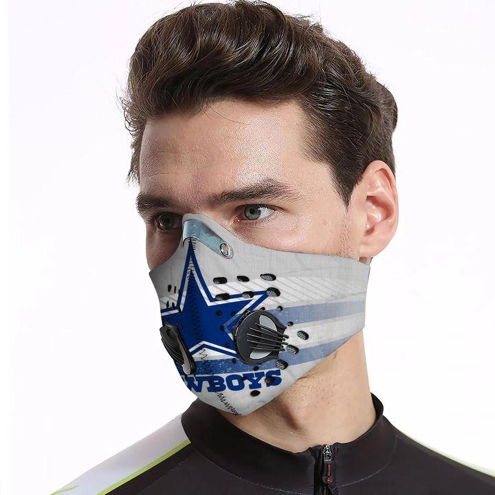 Dallas cowboys carbon pm 2,5 face mask 3
