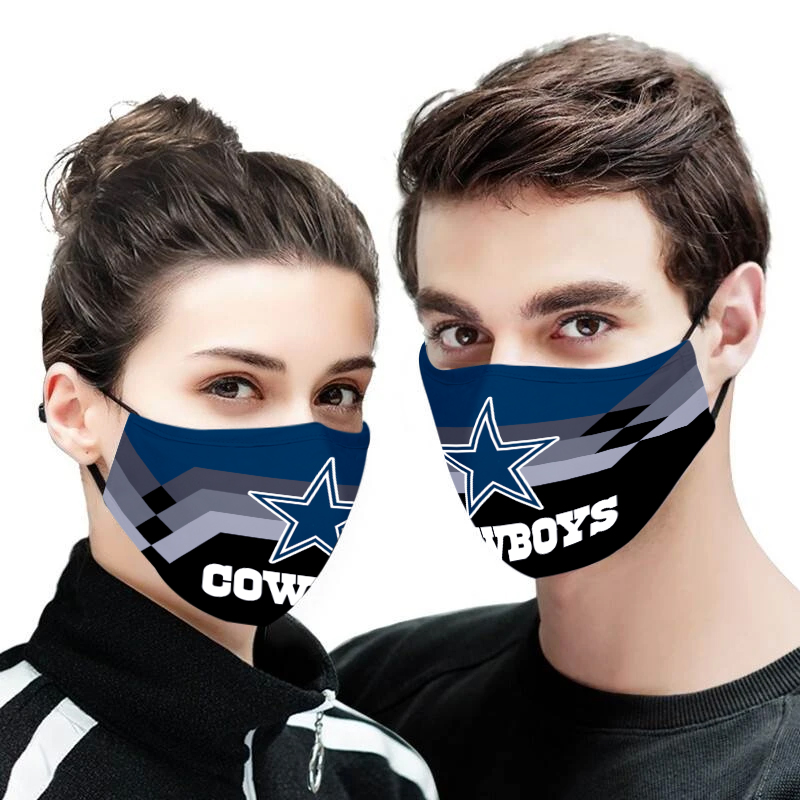 Dallas cowboys full printing face mask 1