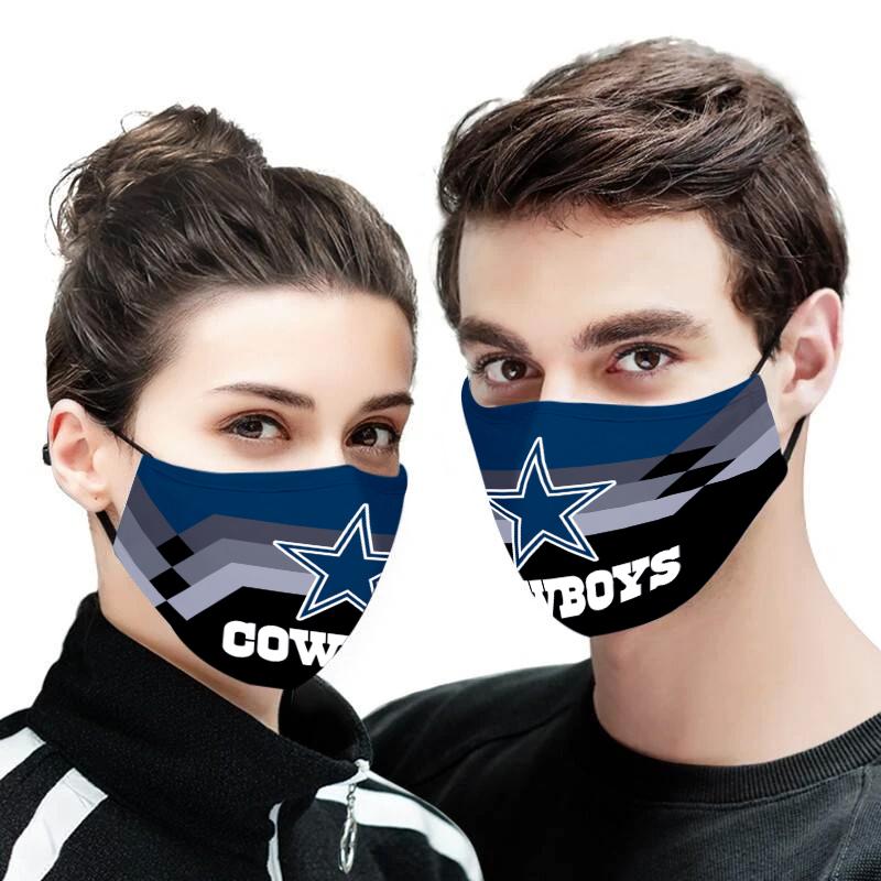 Dallas cowboys full printing face mask 4