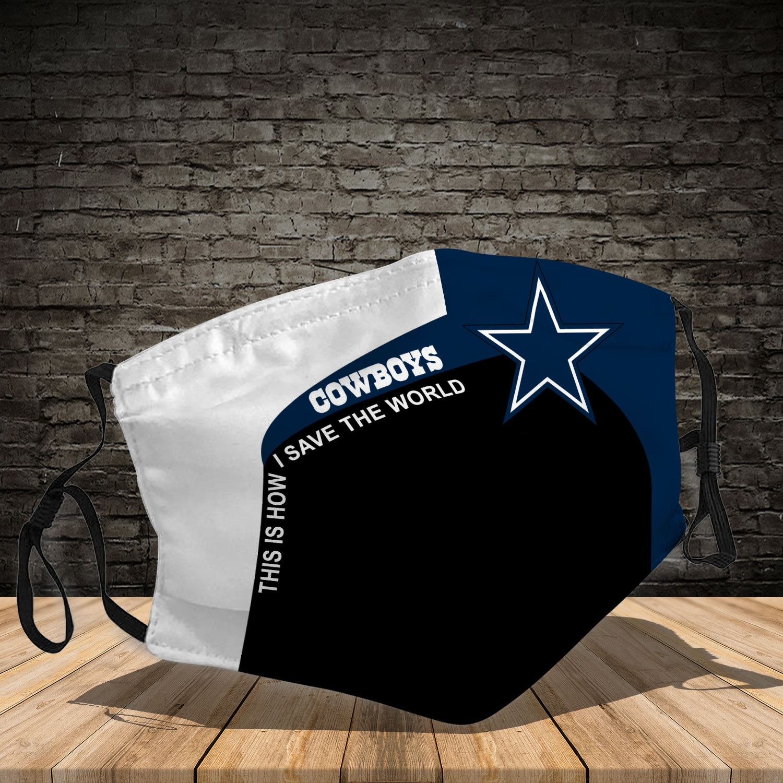 Dallas cowboys team full printing face mask 4