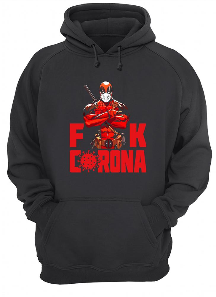Deadpool with face mask fuck coronavirus hoodie