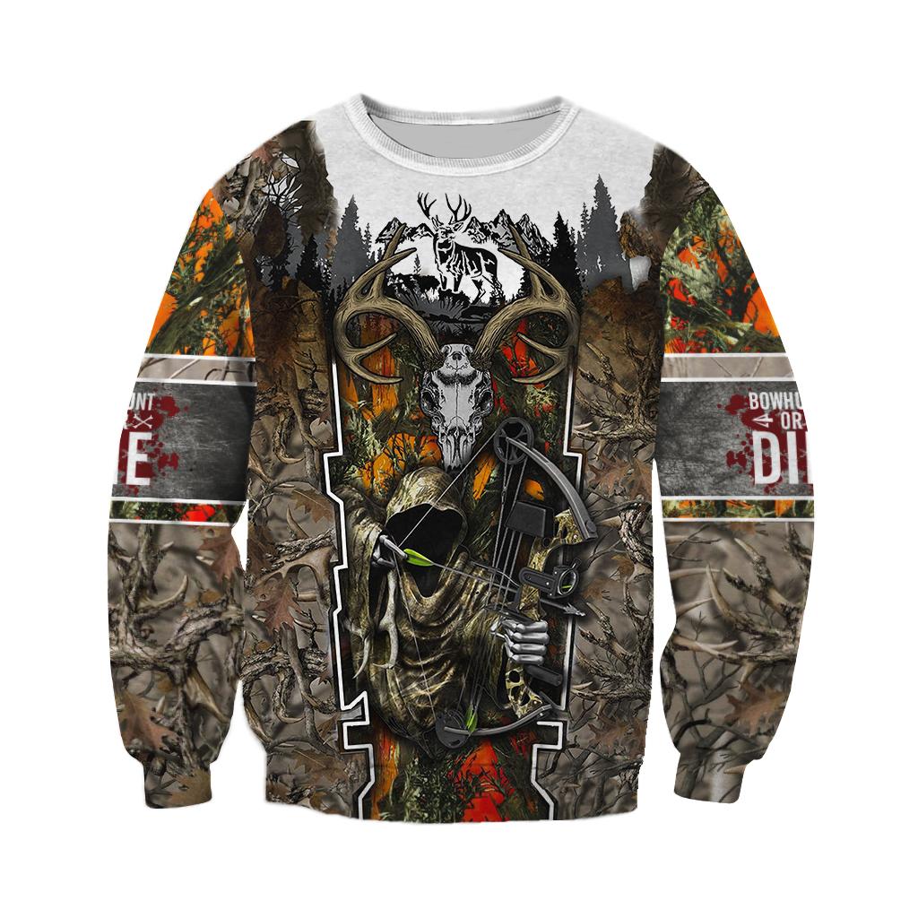 Death hunter hunting camo full over print sweatshirt