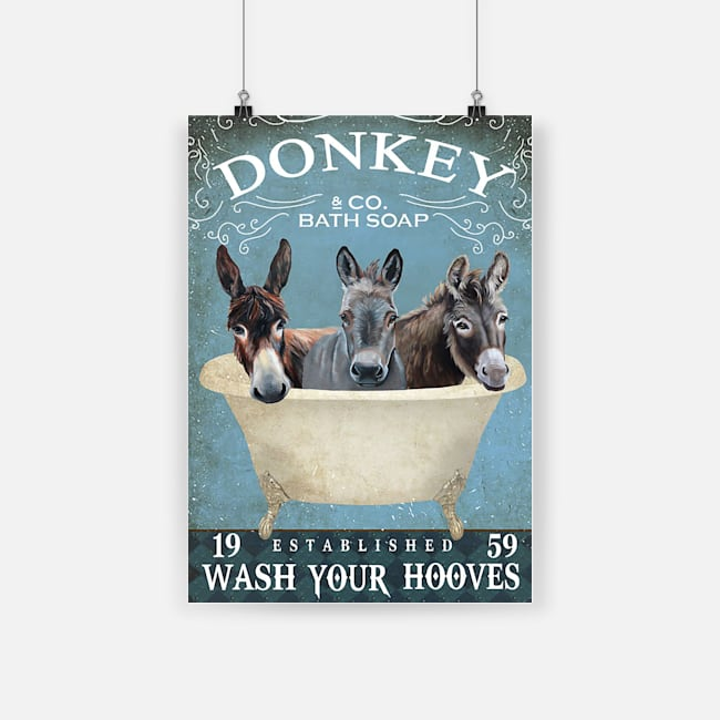 Donkey bath soap wash your hooves poster 1