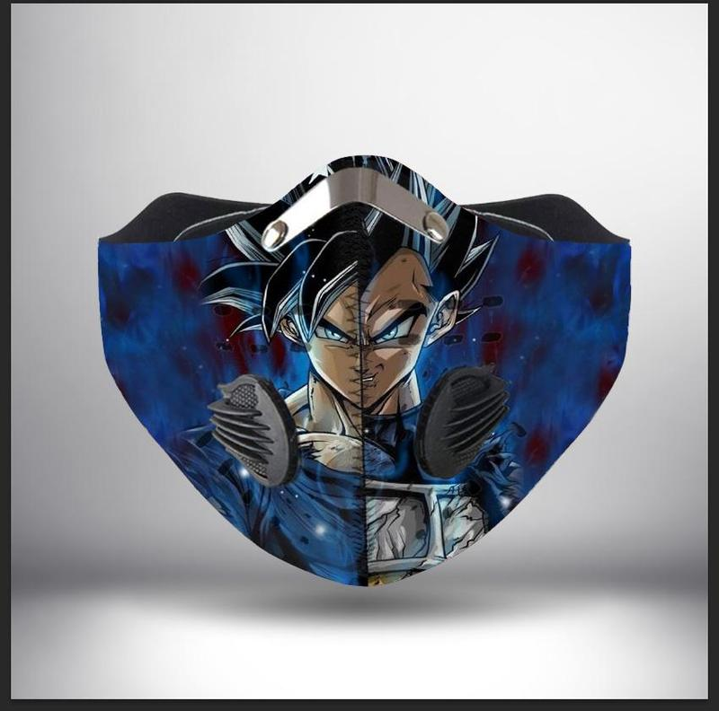 Dragon ball z son goku and vegeta filter activated carbon face mask 2