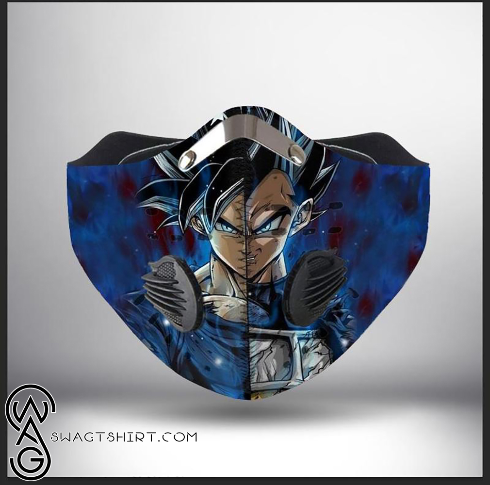 Dragon ball z son goku and vegeta filter activated carbon face mask