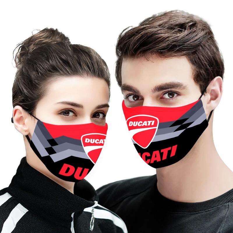 Ducati logo full printing face mask 2