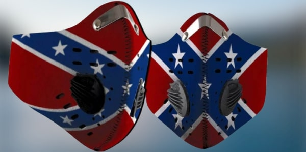Flags of the confederate states of america filter activated carbon face mask 2