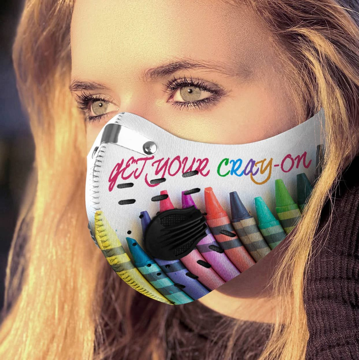 Get your cray-on carbon pm 2,5 face mask 1