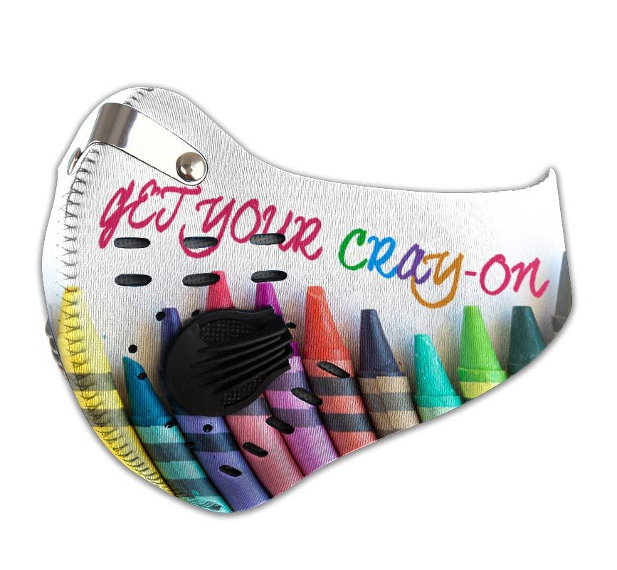 Get your cray-on carbon pm 2,5 face mask 2