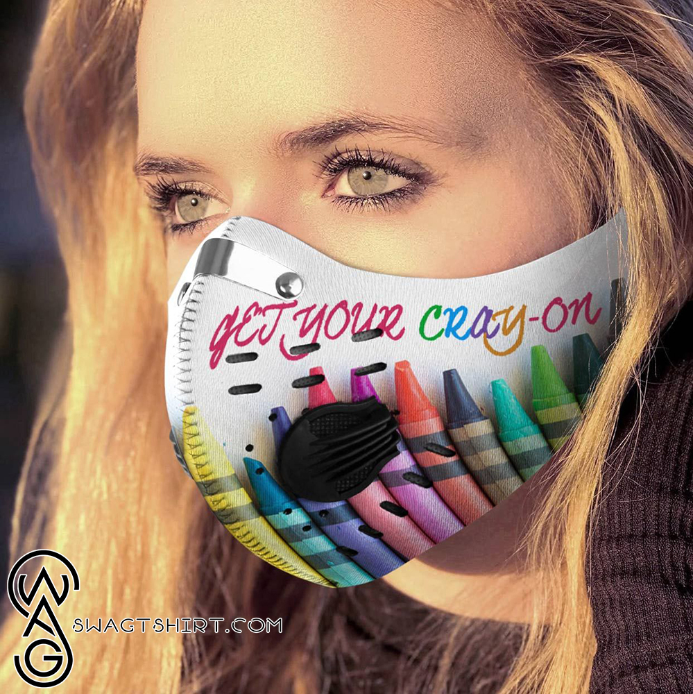 Get your cray-on carbon pm 2,5 face mask