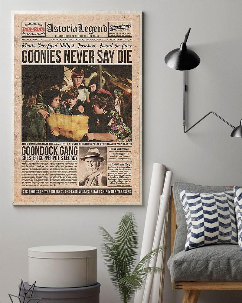 Goonies never say die poster 2