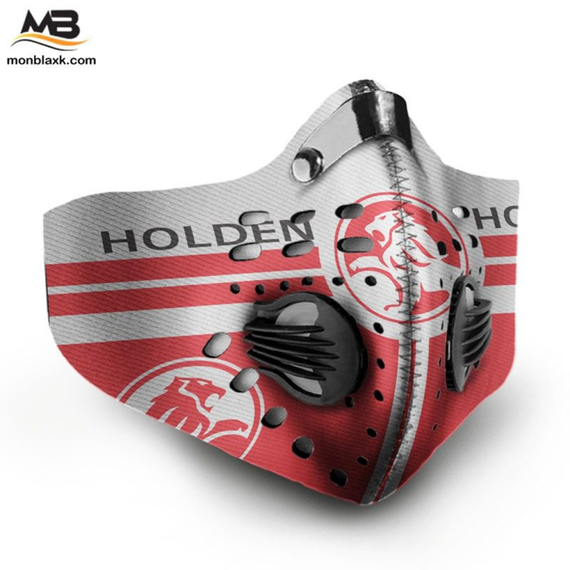 Holden logo filter activated carbon face mask 4