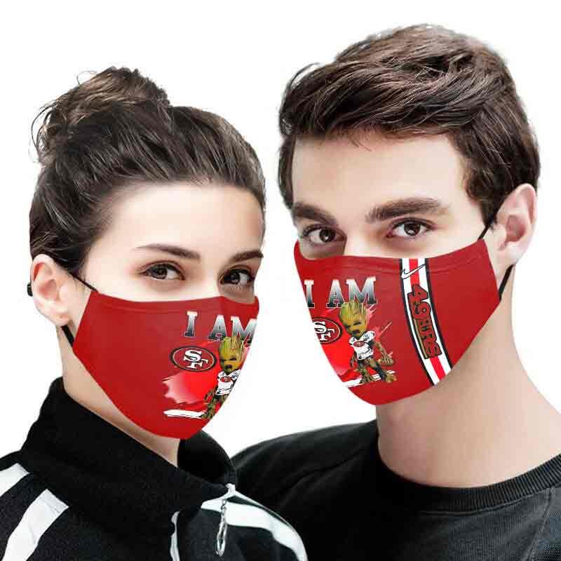 I am groot san francisco 49ers full printing face mask 4