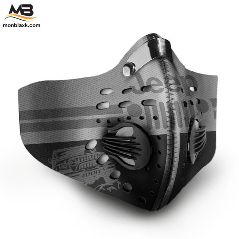 Jeep logo full printing face mask 2
