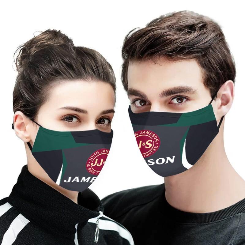 John jameson whiskey full printing face mask 1