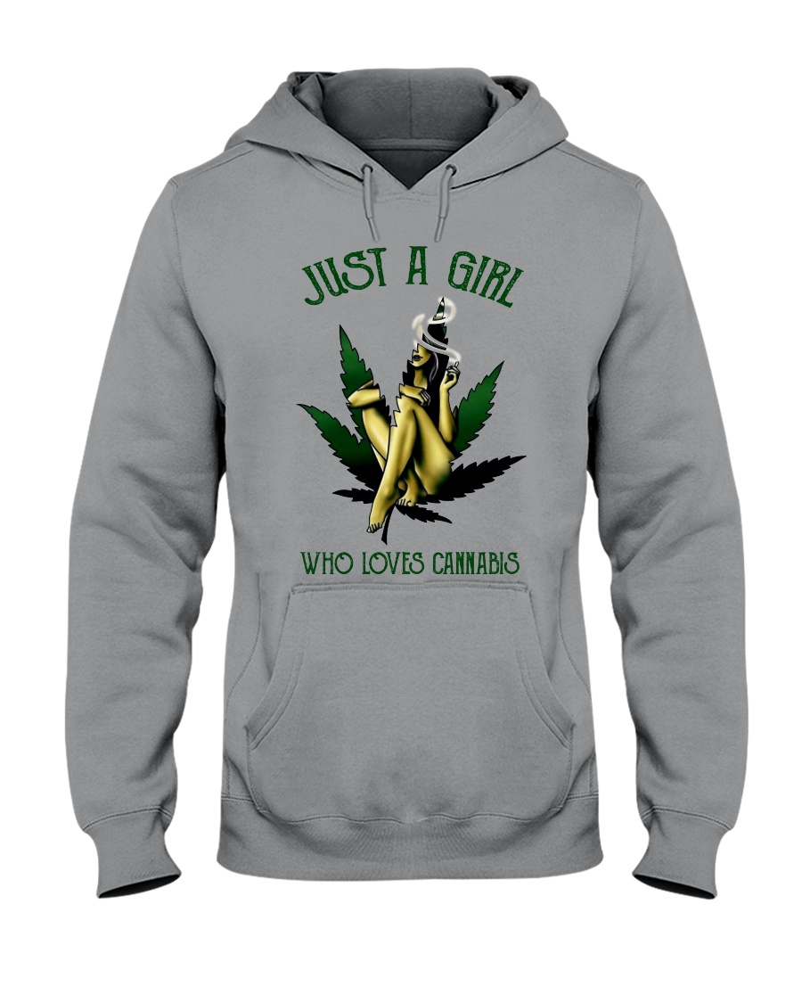 Just a girl who loves cannabis hoodie