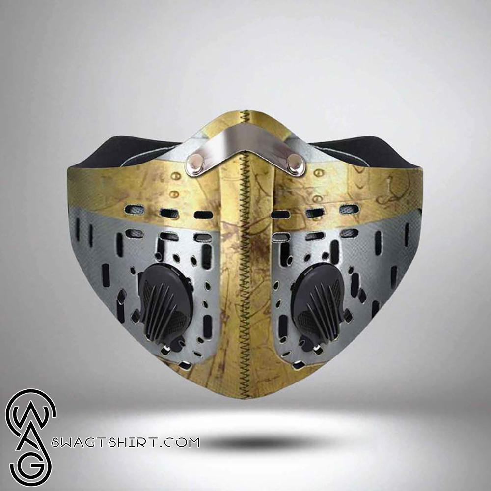 Knights templar helmet filter activated carbon face mask