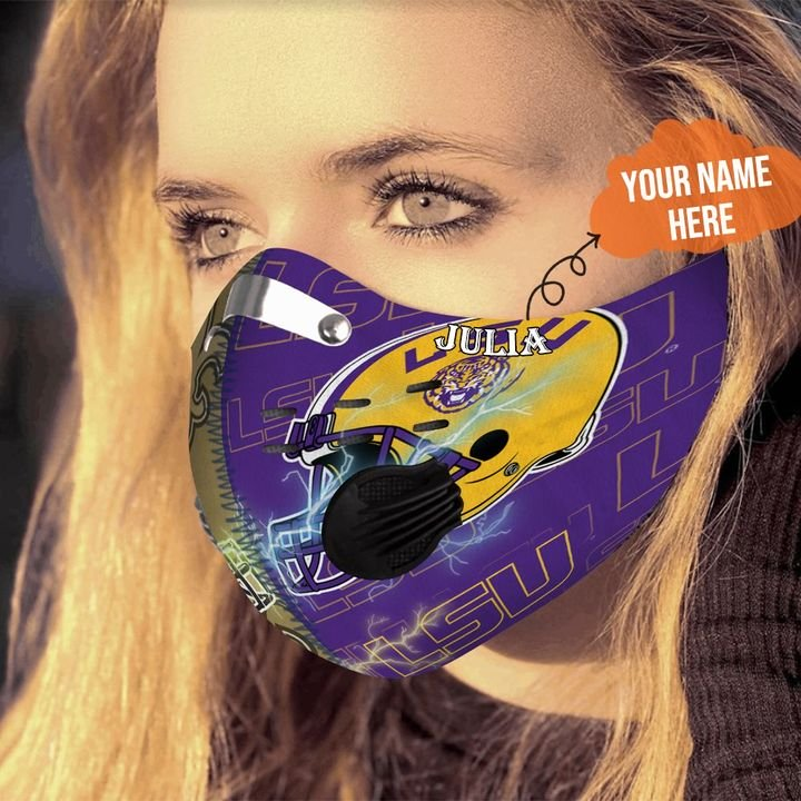 LSU tigers and new orleans saints filter activated carbon face mask 3