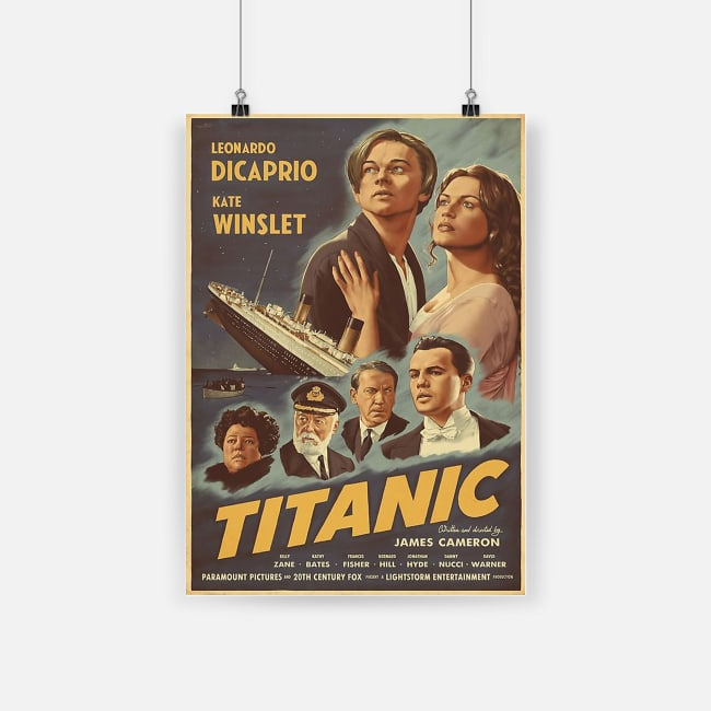 Leonardo dicaprio and kate winslet titanic movie poster 1