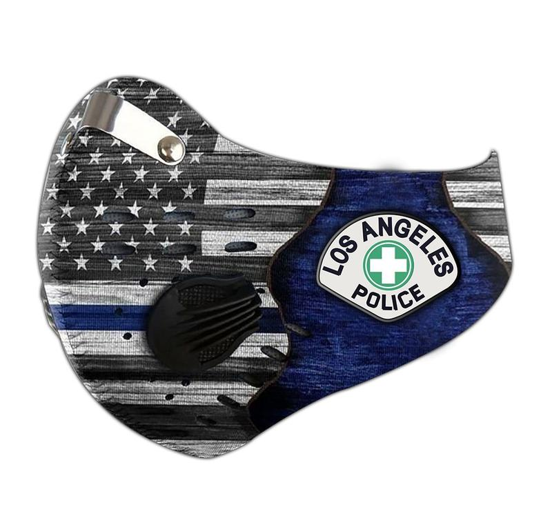 Los angeles police department filter activated carbon face mask 3
