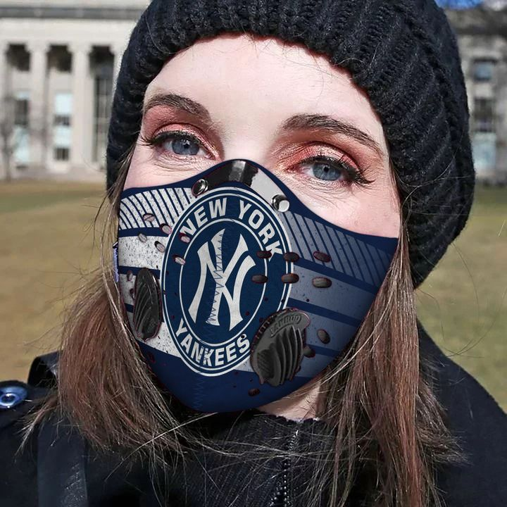 MLB new york yankees filter activated carbon face mask 1