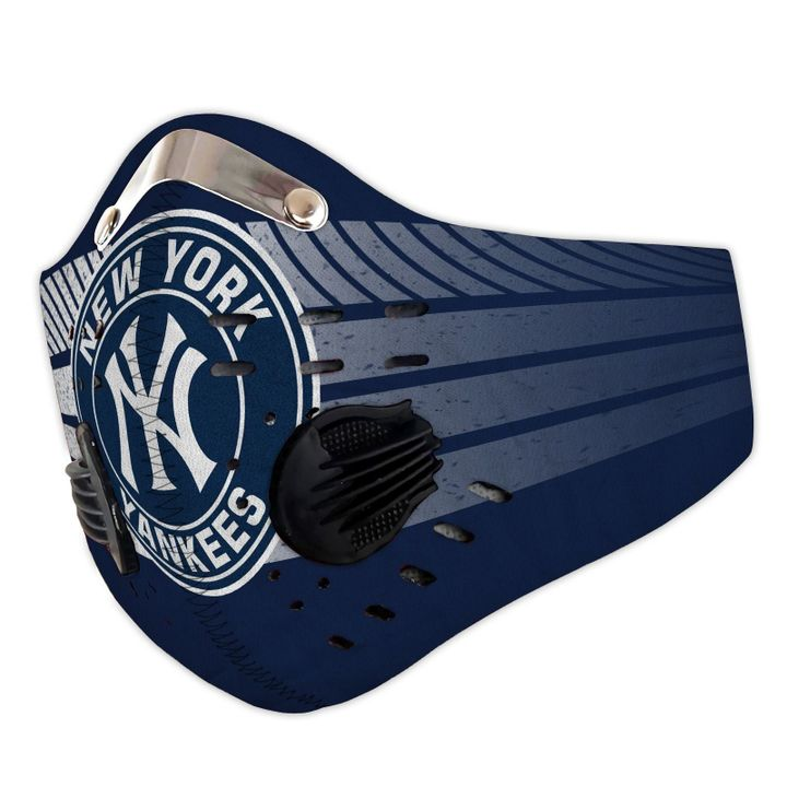 MLB new york yankees filter activated carbon face mask 3