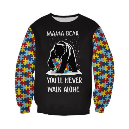 Mama bear autism awareness full over print sweatshirt