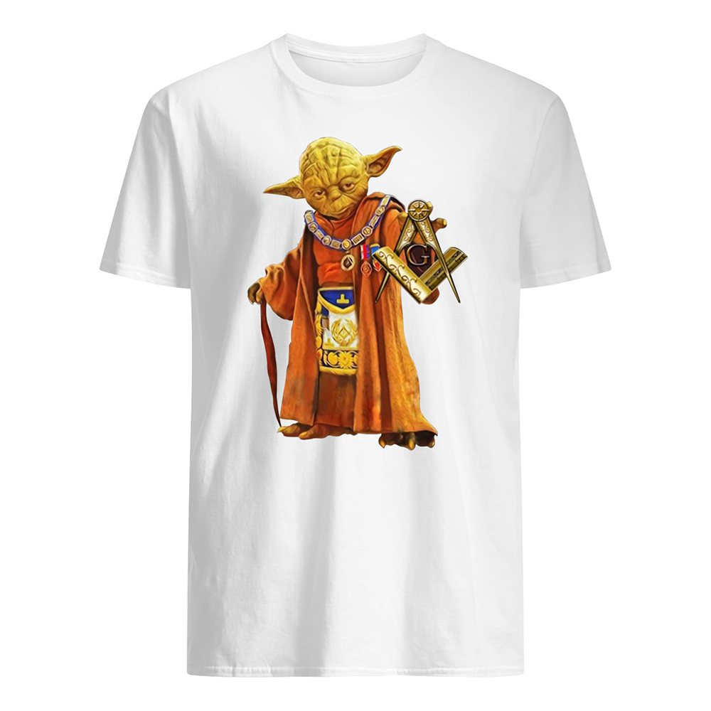 Master yoda freemason brother mens shirt