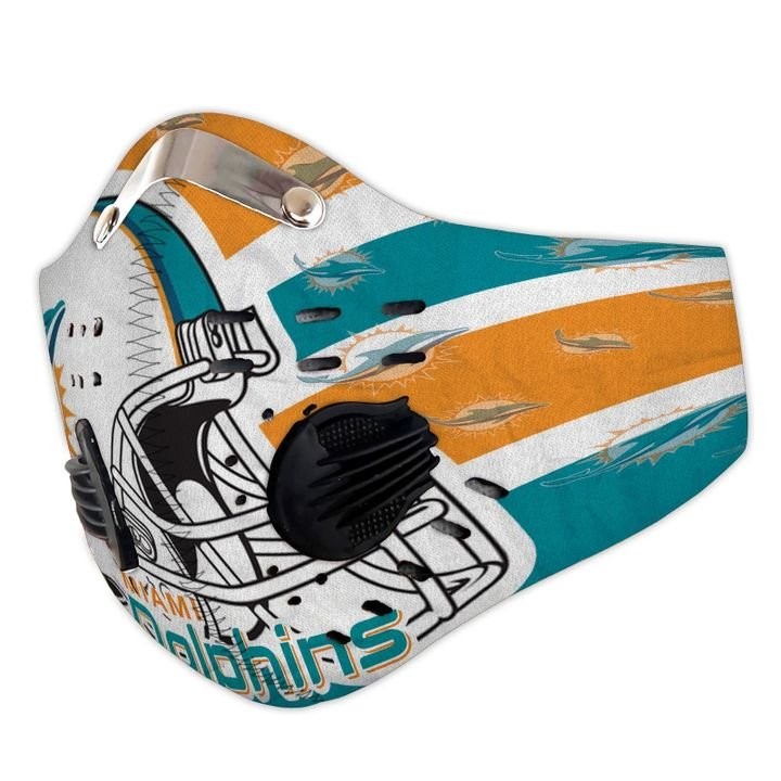 Miami dolphins carbon pm 2,5 face mask 4