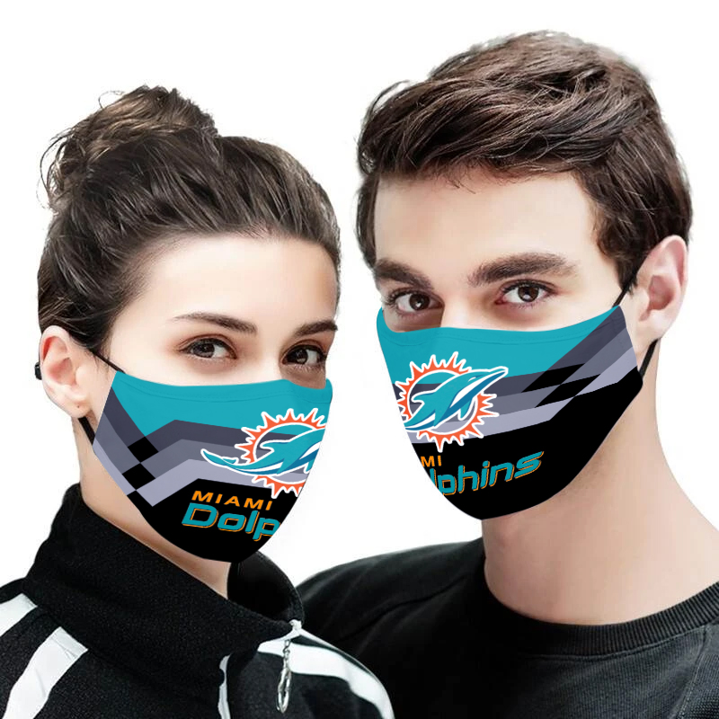 Miami dolphins full printing face mask 1