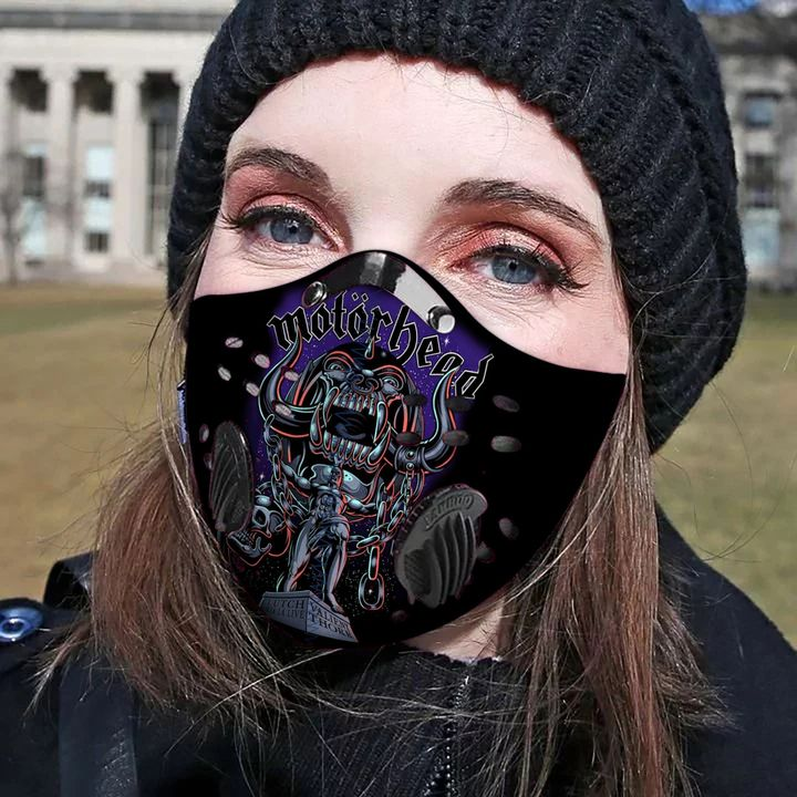 Motorhead filter activated carbon pm 2,5 face mask 3