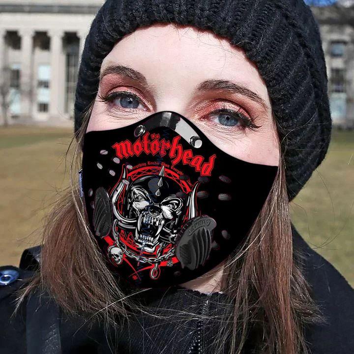 Motorhead rock band carbon pm 2,5 face mask 4