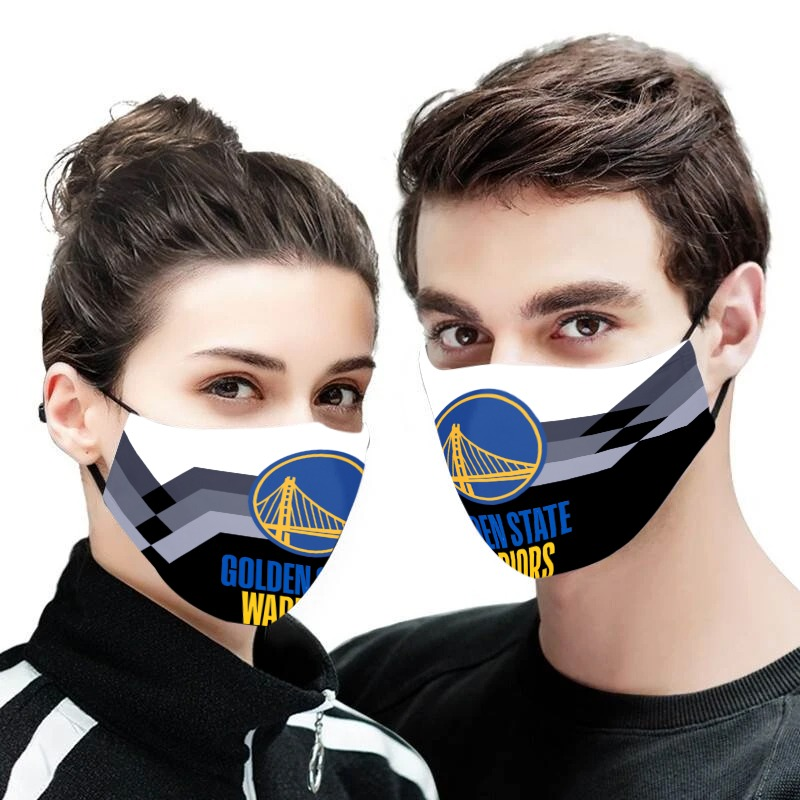 NBA golden state warriors full printing face mask 1