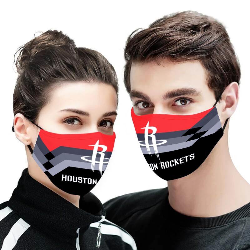 NBA houston rockets full printing face mask 1