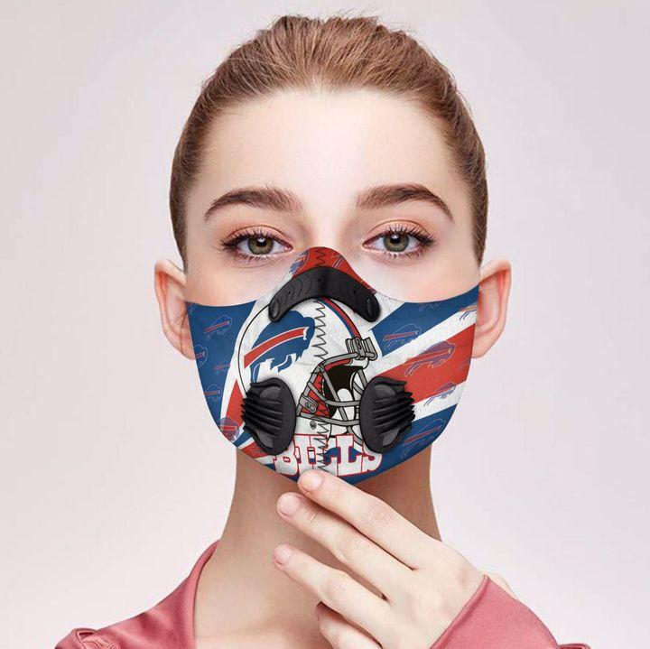 NFL buffalo bills carbon pm 2,5 face mask 2