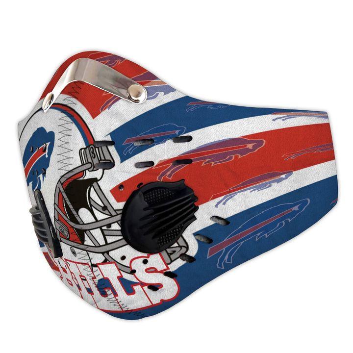 NFL buffalo bills carbon pm 2,5 face mask 3