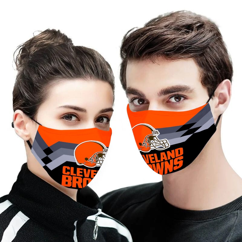 NFL cleveland browns full printing face mask 1