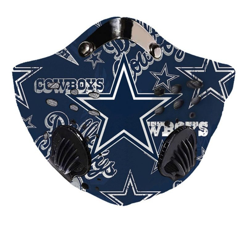 NFL dallas cowboys team filter activated carbon face mask 3