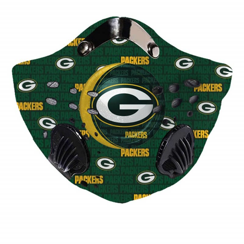 NFL green bay packers logo team filter activated carbon face mask 2