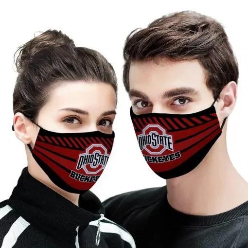 NFL ohio state buckeyes full printing face mask 3