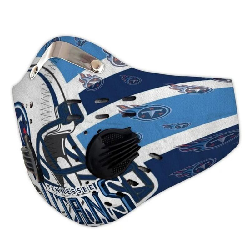 NFL tennessee titans helmet filter activated carbon face mask 2