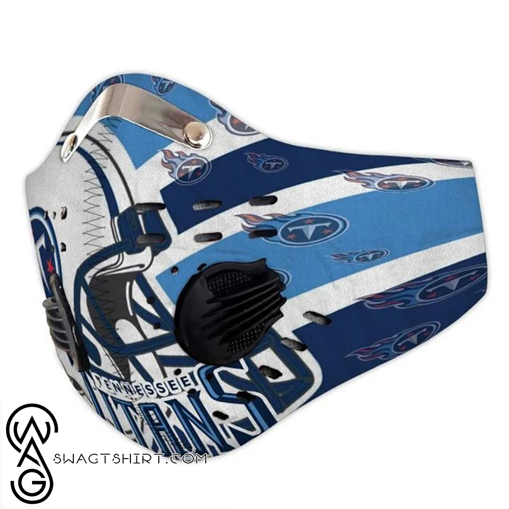 Nfl Tennessee Titans Helmet Filter Activated Carbon Face Mask