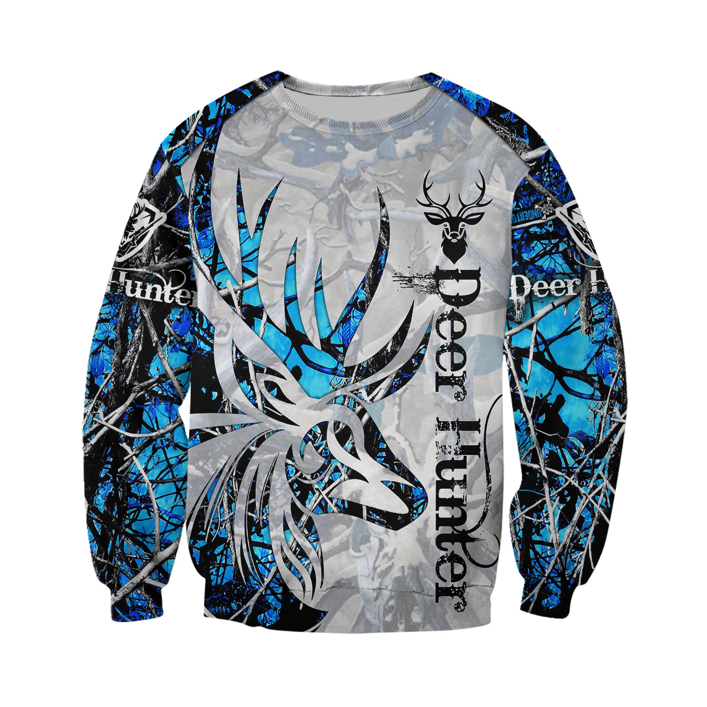Neon deer hunting all over printed sweatshirt