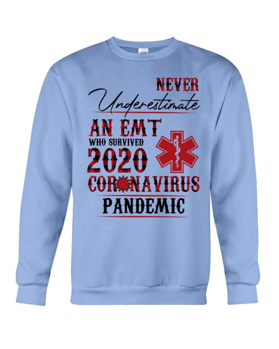 Never underestimate an emt who survived 2020 coronavirus pandemic sweatshirt