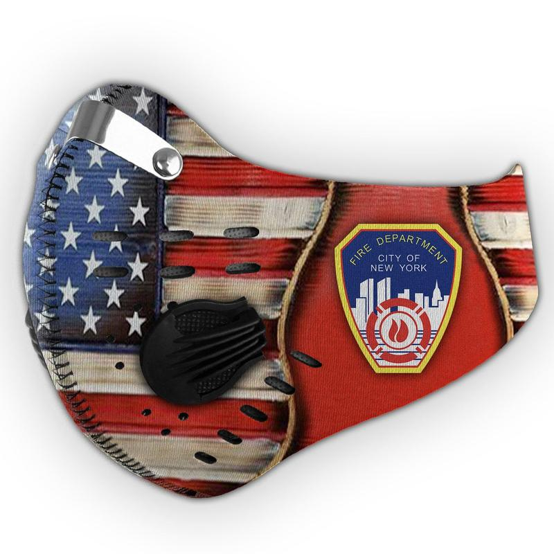 New york city fire department filter activated carbon face mask 4