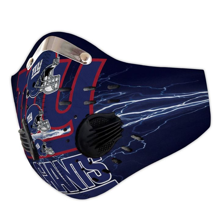New york giants logo filter activated carbon face mask 3